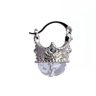 Madame Earth Queen Crown Crystal Earrings