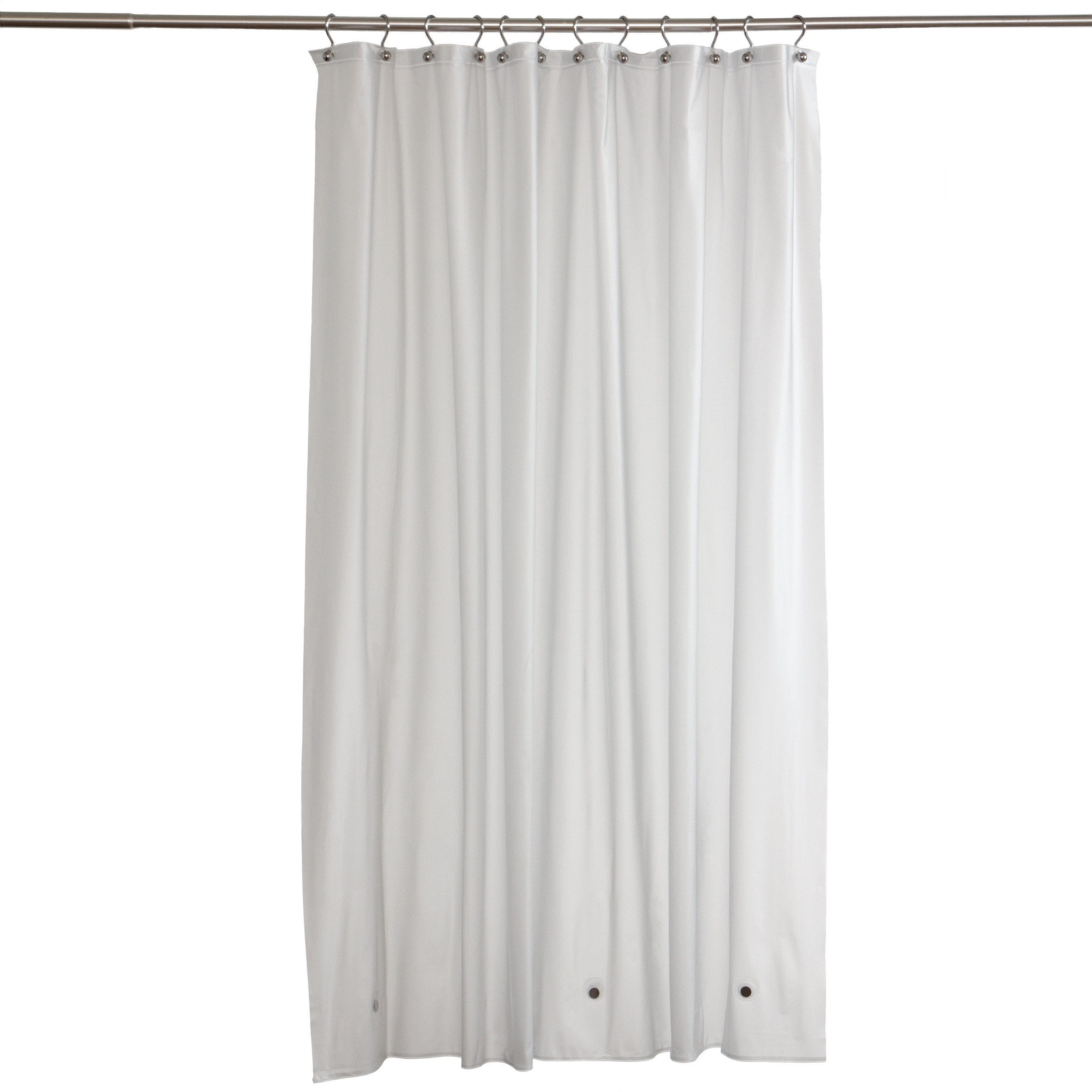 Zenith Frosty Clear Commercial Grade Vinyl Shower Curtain...