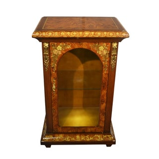 Single Door Glass Door Cabinet Inspired by Sorrento Inlaid Wood Cabinets