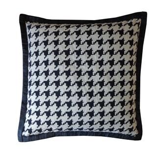 Jiti Black Houndstooth Cotton Pillow