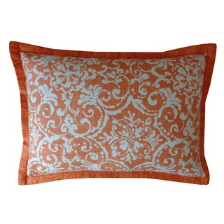 Handmade Primitiave Orange Pattern Cotton Pillow