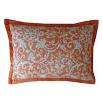 Jiti Primitiave Orange Pattern Cotton Pillow