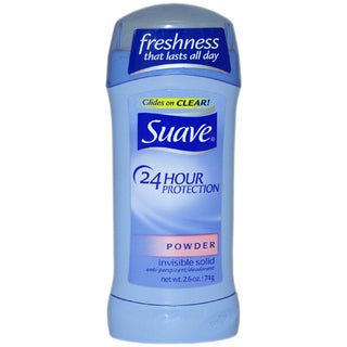 Suave 24 Hour Protection Powder Invisible Solid Anti-Perspirant 2.6-ounce Deodorant Stick