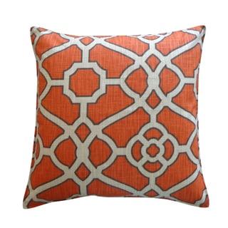 Jiti Celtic Orange Cotton Throw Pillow
