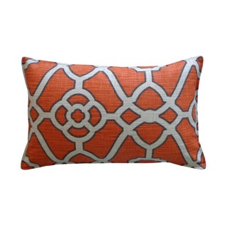 Jiti Celtic Orange Pattern Cotton Pillow
