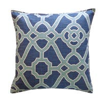 Jiti Celtic Blue Cotton Decorative Throw Pillow