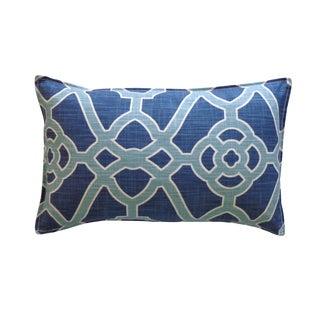 Jiti Blue Celtic Pattern Cotton Pillow