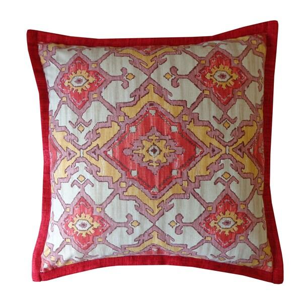 Handmade Red Pharoah Pattern Cotton Pillow