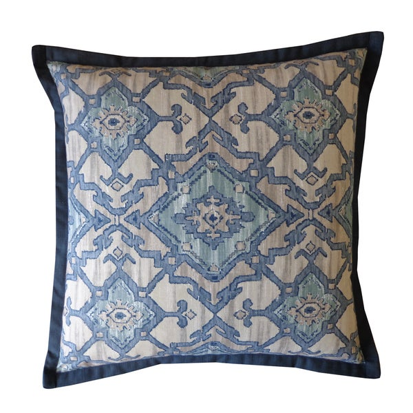 Handmade Blue Pharoah Pattern Cotton Pillow