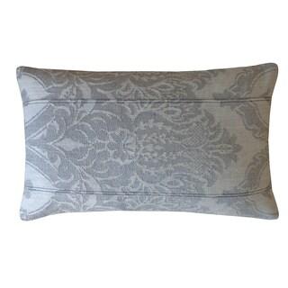 Jiti Grey Ghost Damask Cotton Pillow