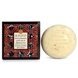 Madame Earth Cherry Blossom and Green Tea Exfoliating Spa Soap from Greenwich Bay Trading (Set of 2)
