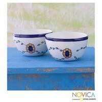Handmade Set of Two Ceramic 'Margarita' Bowls (Guatemala)