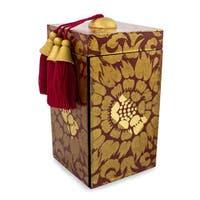 Handmade MDF Wood 'Red Secret Palace' Jewelry Box (Thailand)