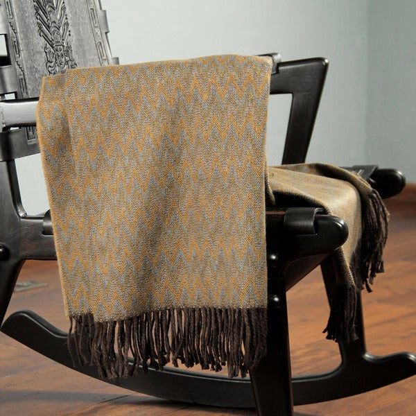 Acrylic Alpaca Wool 'Desert' Throw Blanket (Peru)
