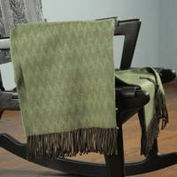 Acrylic Alpaca Wool 'Forest' Throw Blanket (Peru)