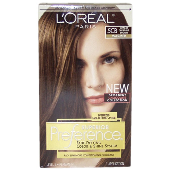 L X27 Oreal Paris Superior Preference Fade Defying Color 5cb Medium Chestnut
