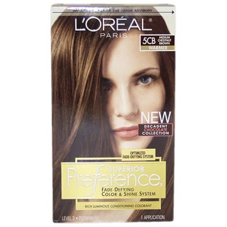 L'Oreal Paris Superior Preference Fade-Defying Color #5CB Medium Chestnut Brown Warmer