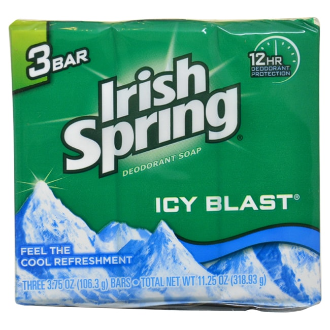 Irish Spring IcyBlast Cool Refreshment 4-ounce Soap (1), ...