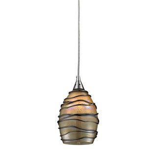 Elk Lighting Vines Single-light Satin Nickel Pendant