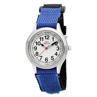 Youth and Adult Talking Watch with Blue Velcro Adjustable Strap