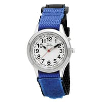 Youth and Adult Talking Watch with Blue Hook and Loop Adjustable Strap