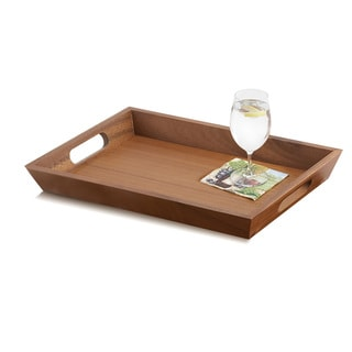 Woodard & Charles WTM120 Acacia Wood 19 1/4-Inch Serving Tray