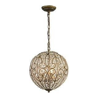 Elk Lighting Elizabethan Dark Bronze and Crystal 6-light Pendant