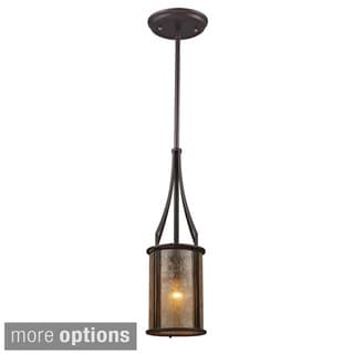 Elk Lighting Barringer Tan Mica Shade 1-light Pendant