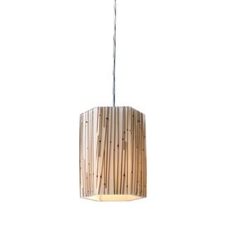Elk Lighting Modern Organics Bamboo Stem/ Polished Chrome 1-light Pendant