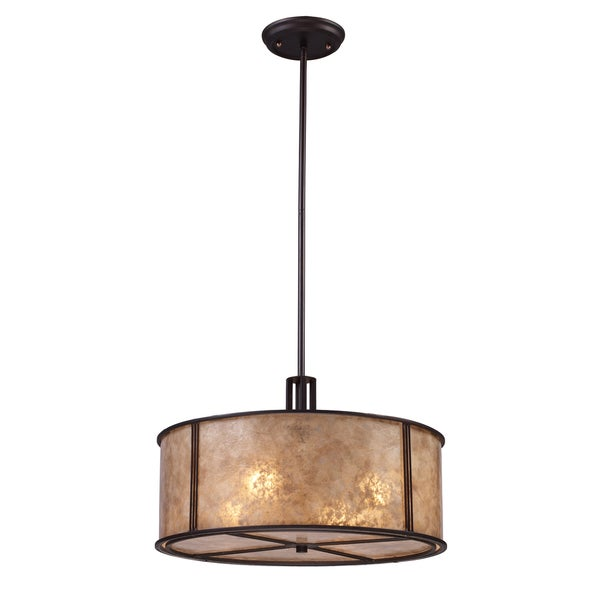 Elk Lighting Barringer Tan Mica Shade 4-light Pendant