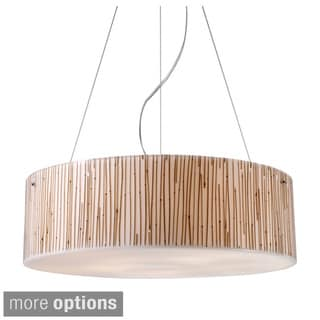 Elk Lighting Modern Organics 5-light Polished Chrome/ Bamboo Stem Pendant