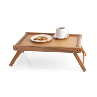 Woodard & Charles WTM110 Acacia Wood 24-inch Bed Tray with Folding Legs