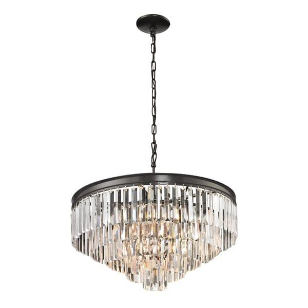 shop elk lighting palacial 6 light oil rubbed bronze pendant on rh overstock com