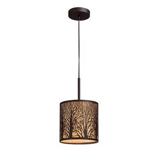 Elk Lighting Woodland Sunrise Single-light Aged Bronze Pendant