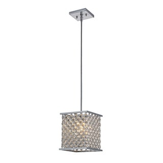 Elk Lighting Genevieve Single-light Polished Chrome Square Pendant