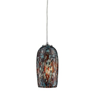Elk Lighting Collage 1-light Satin Nickel and Colored Glass Pendant