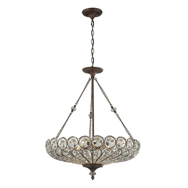 Elk lighting christina crystal and mocha 6 light semi flush mount elk lighting christina crystal and mocha 6 light semi flush mount pendant aloadofball Gallery