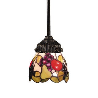 Elk Lighting Mix-N-Match Fruit Bowl 1-light Tiffany-style Bronze Pendant