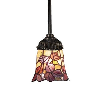 Elk Lighting Mix-N-Match 1-light Tiffany-style Bronze and Art Glass Pendant