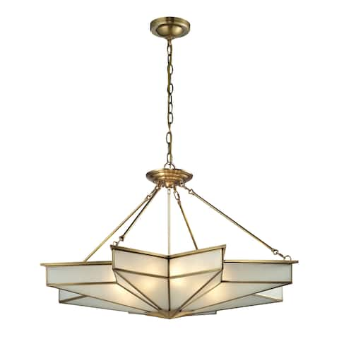 Elk Lighting Decostar 8-light Brushed Brass Pendant