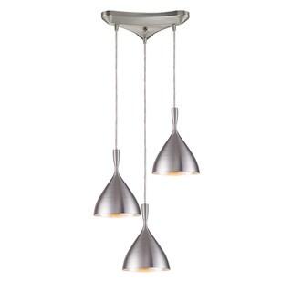 Elk Lighting Spun Aluminum 3-light Steel Pendant