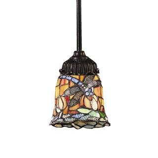 Elk Lighting Mix-N-Match 1-Light LED Tiffany-style Bronze Pendant (2 options available)