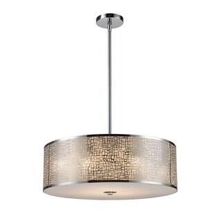 Elk Lighting Medina 5-light Polished Stainless Steel Pendant