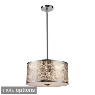 Elk Lighting Medina 3-Light Polished Stainless Steel Pendant