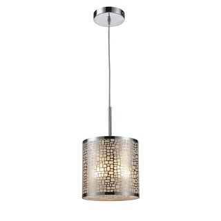 Elk Lighting Medina 1-light Polished Stainless Steel Pendant