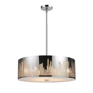 Elk Lighting Skyline 5-Light Polished Stainlesss Steel Pendant