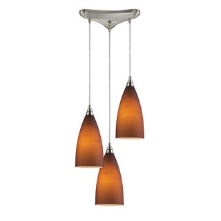 Elk Lighting Vesta 3-light Tobacco/ Satin Nickel Pendant