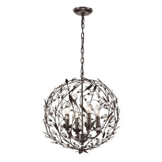 Elk Lighting Circeo 4-light Deep Rust Pendant