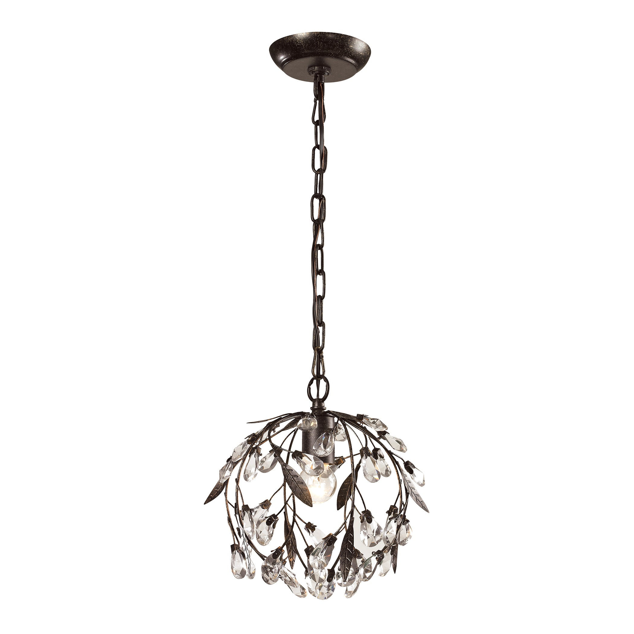 Elk Lighting Circeo 1 Light Deep Rust Mini Pendant