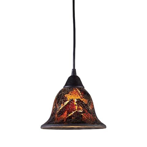 Firestorm Dark Rust Glass 1-light Pendant